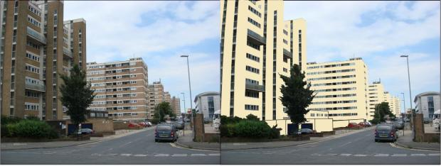 Proposal for recladding of the Clarendon Villas high-rises