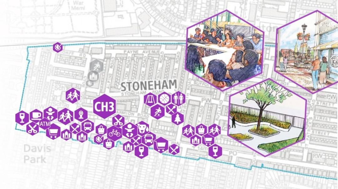 Stoneham-Community-Hub map
