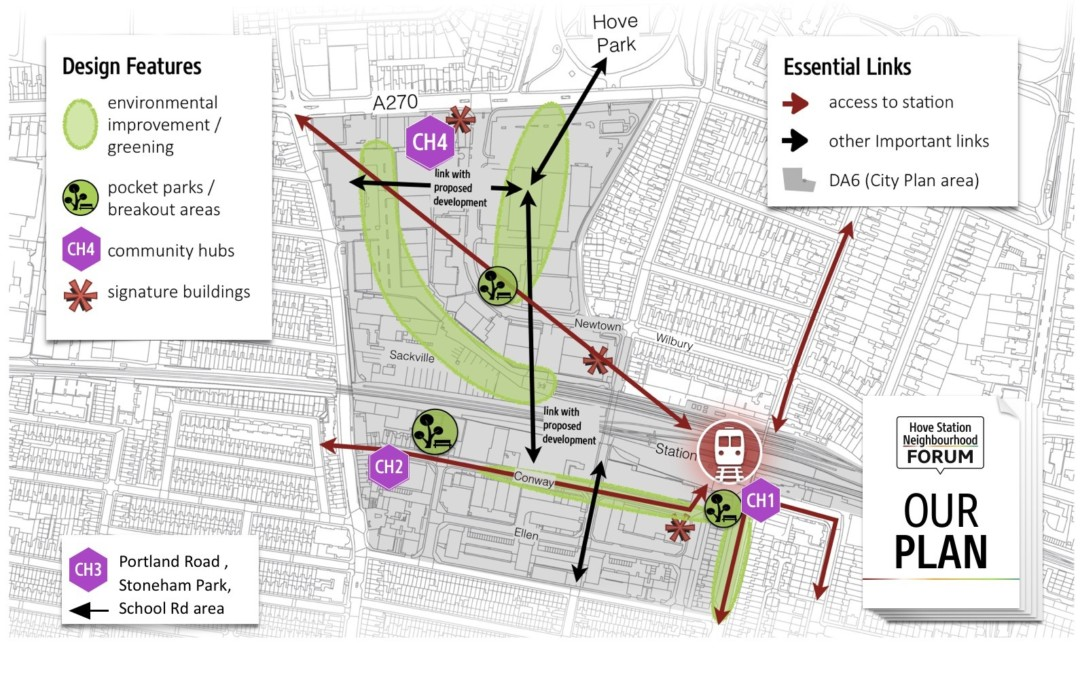 Hove Station Plan design-features-hubs-links